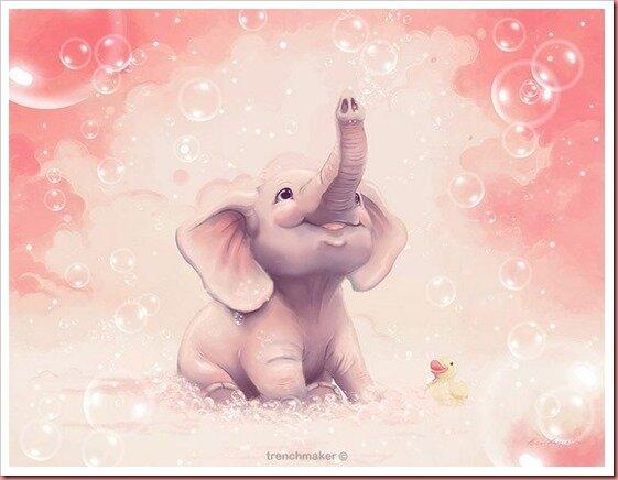 09e2c9ed9ad5156e54dda8b43f4a33c8--elephant-art-pink-elephant