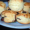 Scones natures et cranberries