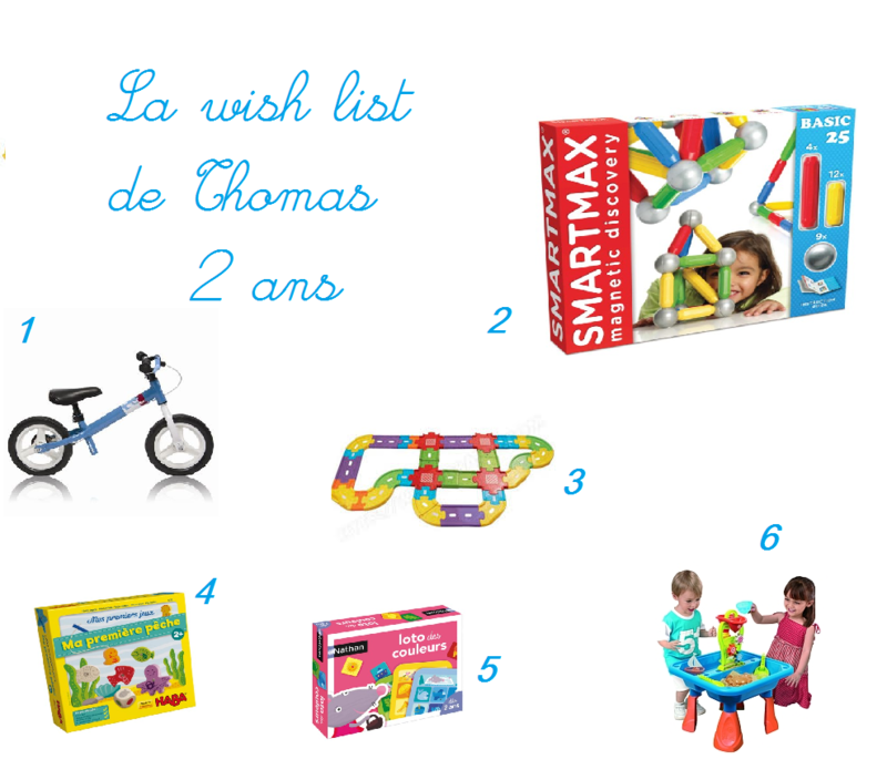 wish list 2 ans Thomas