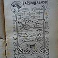 La bouillabaisse en provence - recette vers 1900.
