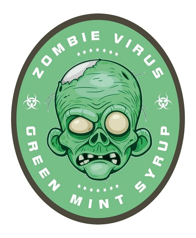 label zombie green mint syrup