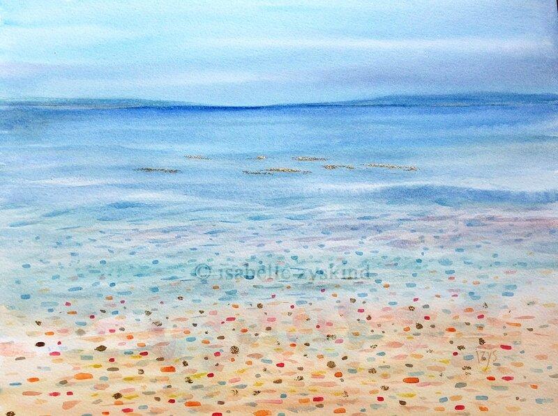 La mer qu'on voit briller w30x40 0617