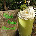 Coktail kiwi, poire, citron vert