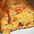 Cake au comté et chorizo