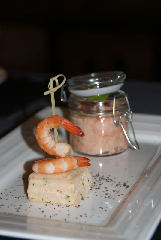 Terrine de Saumon et crevette et son Tartare de saumon frais