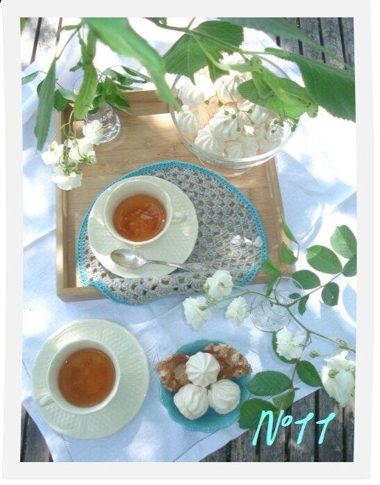 un thé sous les tilleuls