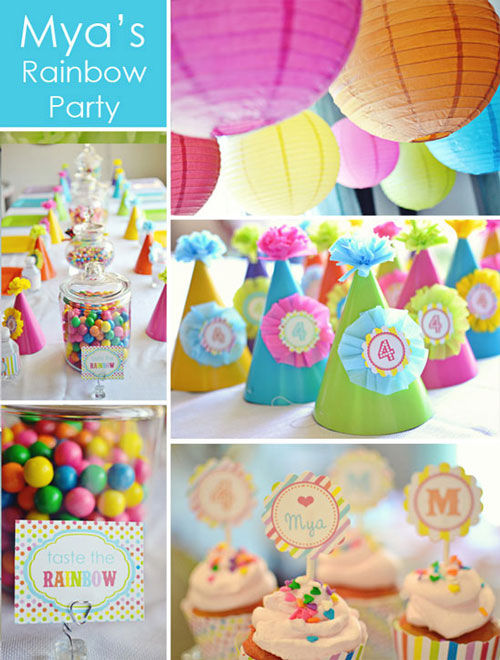 rainbow_printable_birthday_party_mya_party_collage