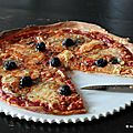 Pizza 4 fromages (bleu, reblochon, emmental, morbier)