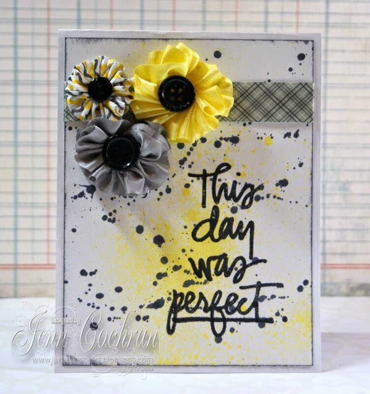 RRR-Grey-Yellow-Perfect day-Ribbon Flowers-Jenn Cochran