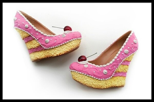 Shoe Bakery Cake Collection Pink Cake Wedges