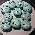 Macarons comme smiley