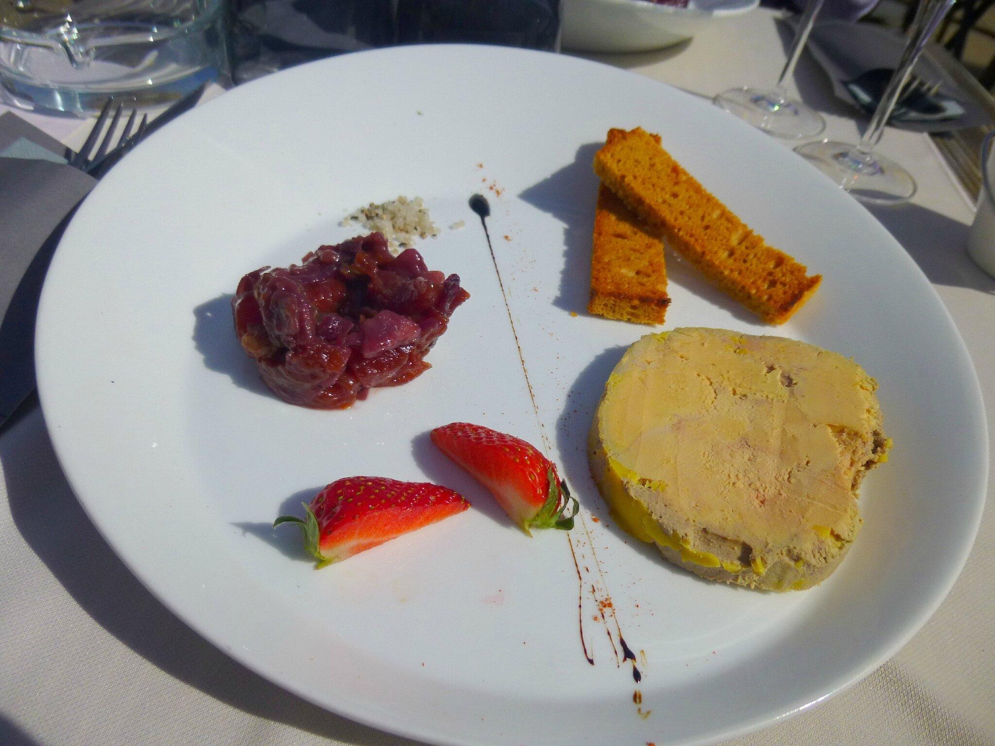 Foie gras, La Villa, Le Mans.