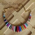 Collier Tubes multicolore