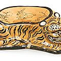 A 'Cizhou' tiger-form pillow, Jin dynasty