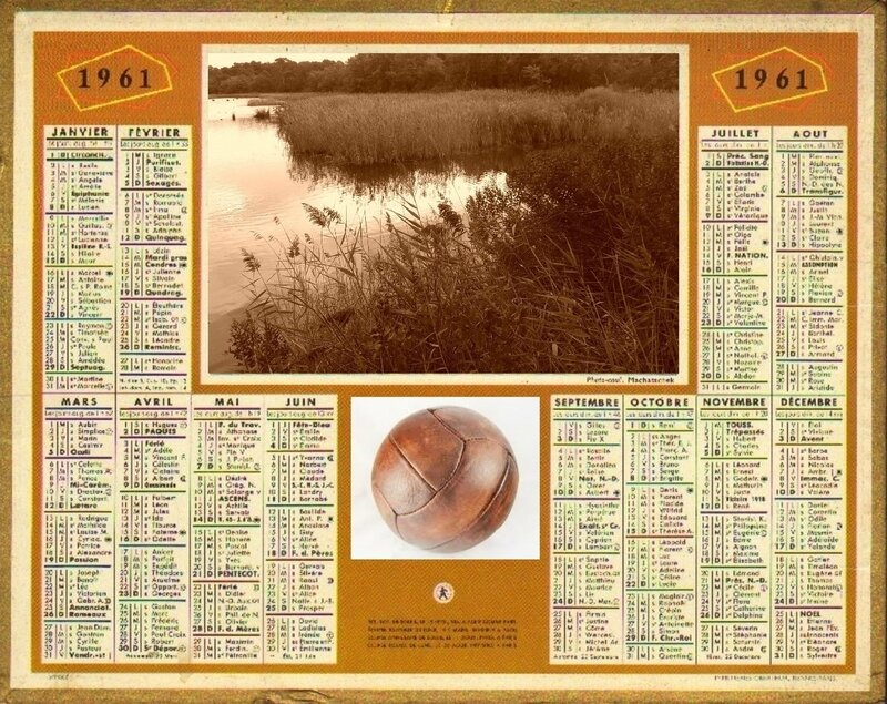 calendrier 1961 montage
