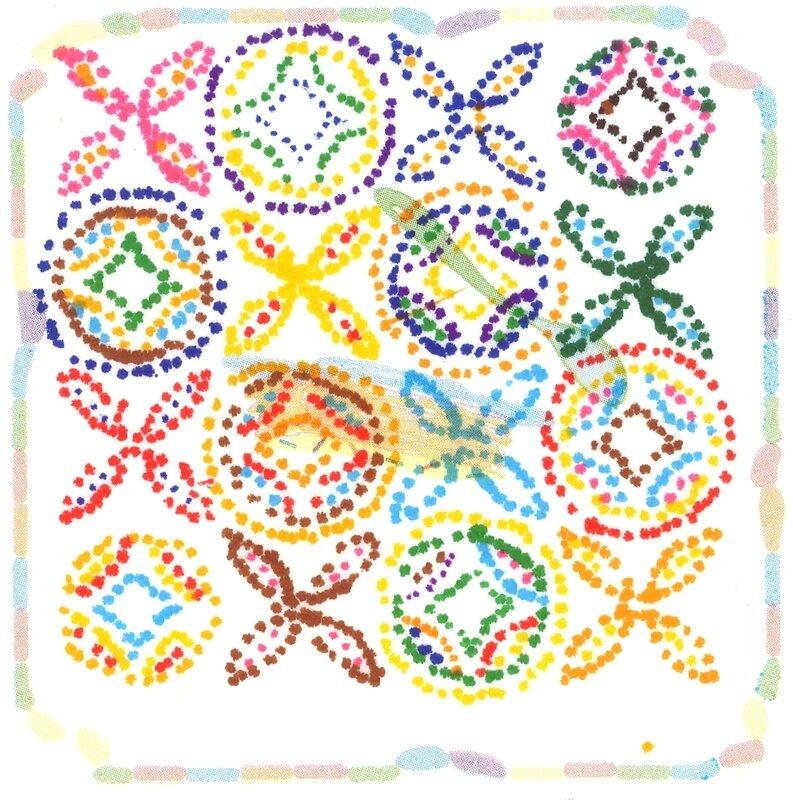 Points de couleurs sur sopalin