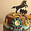 Gâteau d'Elsa : Le rêve d'une cavalière