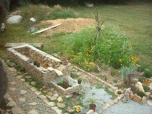 Construction d'un bassin fontaine, photos et commentaires ...