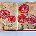 Page art journal : roses