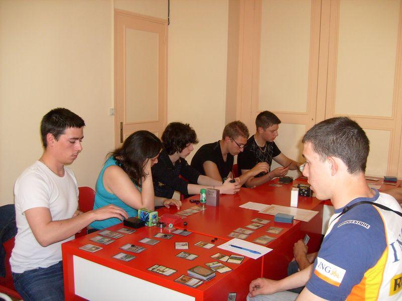 Magic tournoi en pleine concentration