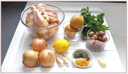 tajine de poulet, citron, olives2