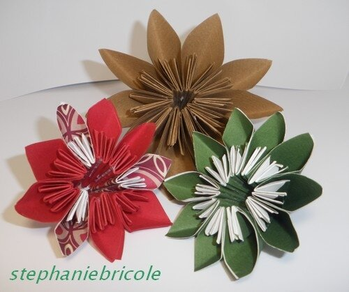 fleur etoile papier