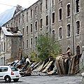 Briançon : l'ancienne usine de la schappe détruite par un incendie cette nuit