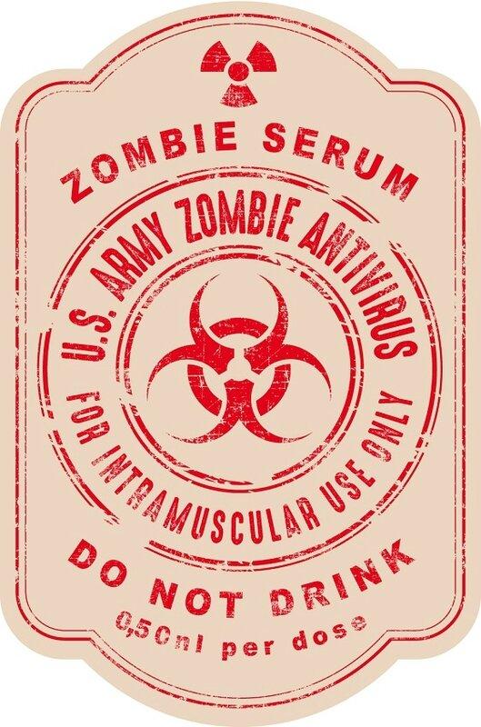 label halloween virus zombie antivirus serum