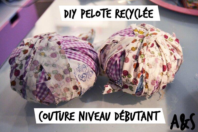 diy pelote recyclée