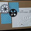 56. caramel, blanc, bleu, gris et noir - voiture et mécanique