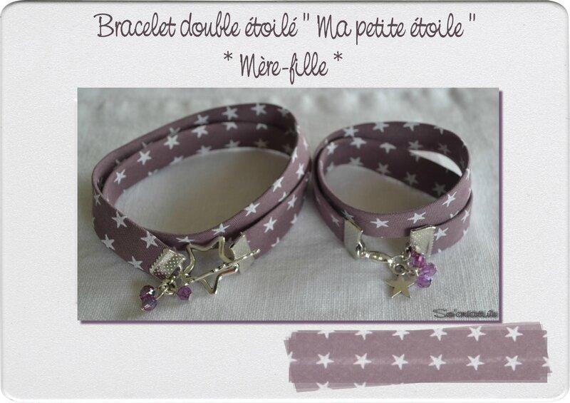 Bracelet double étoilé mère-fille