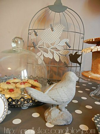 sweet table oiseaux