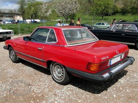 mercedes benz 380 sl cabriolet,1980 1986,bourse de soultzmatt 2012 4