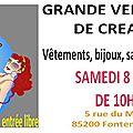 Annulee : grande vente privée de créateurs à fontenay-le-comte