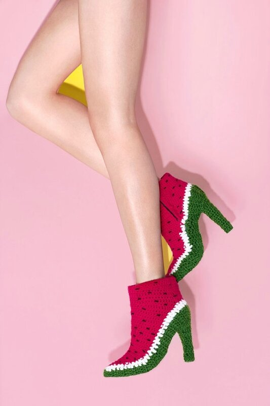 watermelon-crochet-shoes