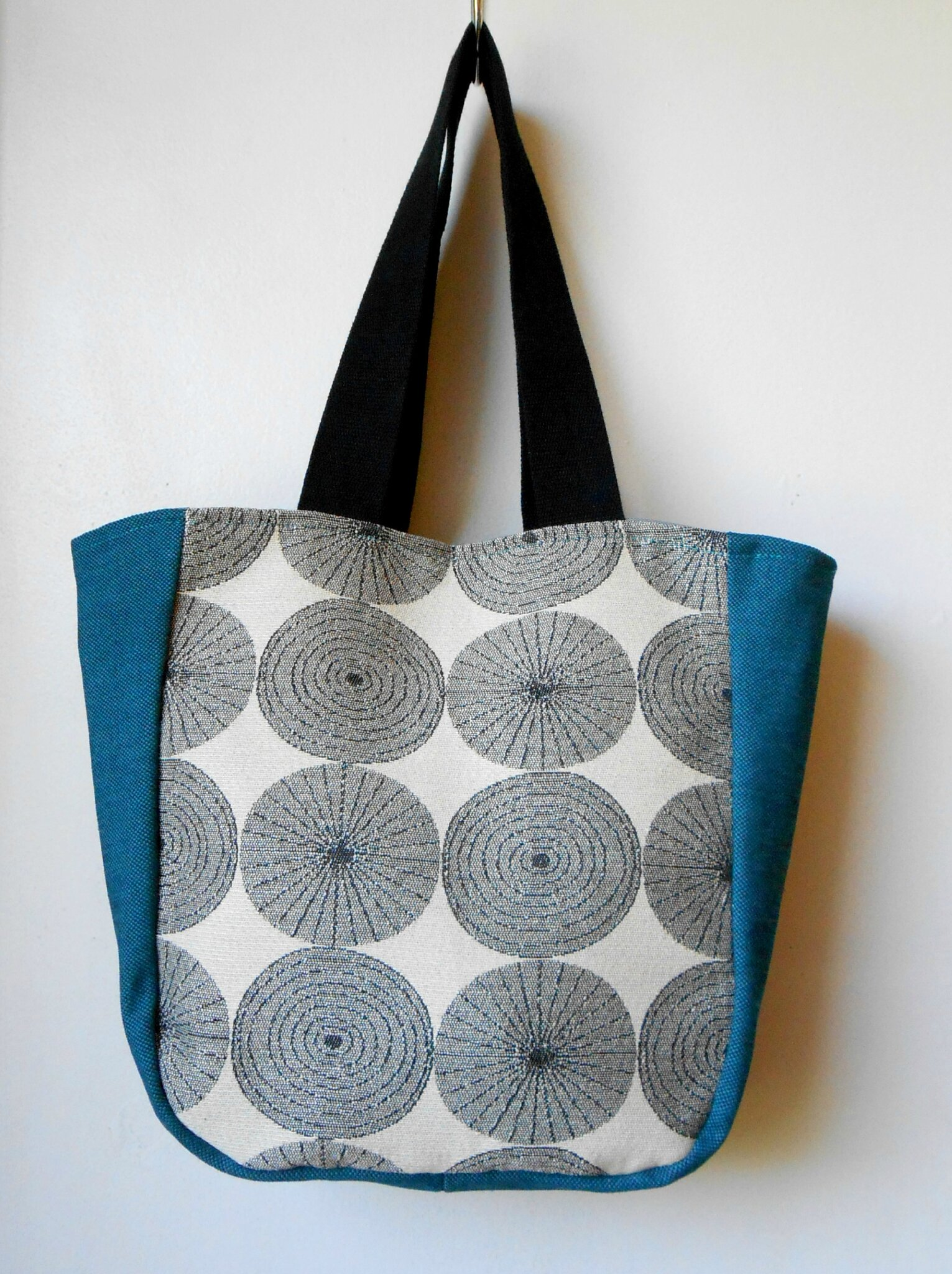 Sac cabas crop circle bleu
