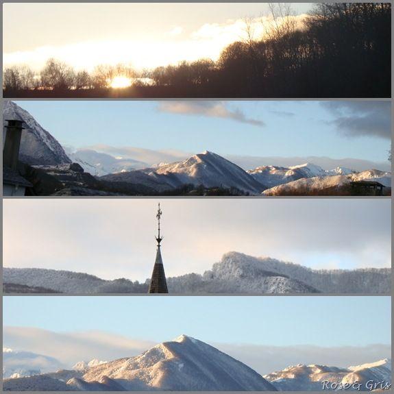lundi matin avec le lever du soleil