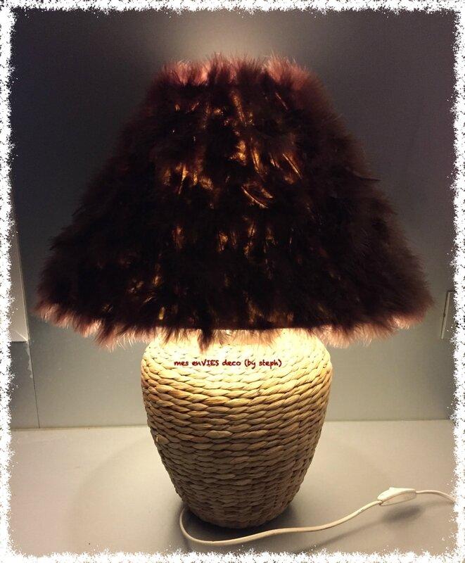 Lampe cathy marron 2