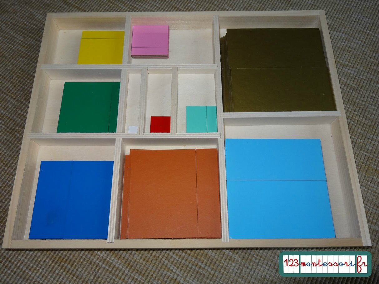 2q boite table pythagore photo de photos mat riel - Table de pythagore montessori ...