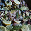 Poulet ail-olives-romarin