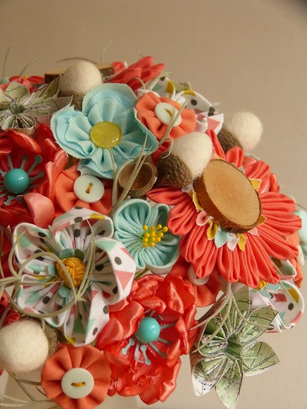 bouquet corail turquoise (3)