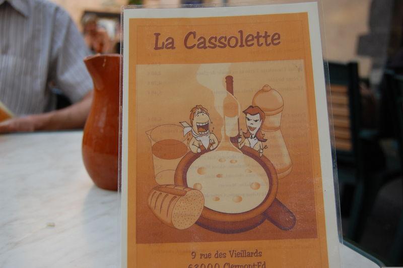 La Cassollette à Clermont Ferrand Juillet 2008
