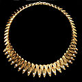 Cartier, paris. retro circa 1950s.18ct yellow gold and diamond fringe necklace