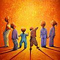 Un soupçon d'innocence - 92x73cm - Acrylique sur toile - Disponible