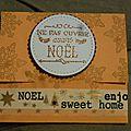 Pochette pour carte cadeau pour noël