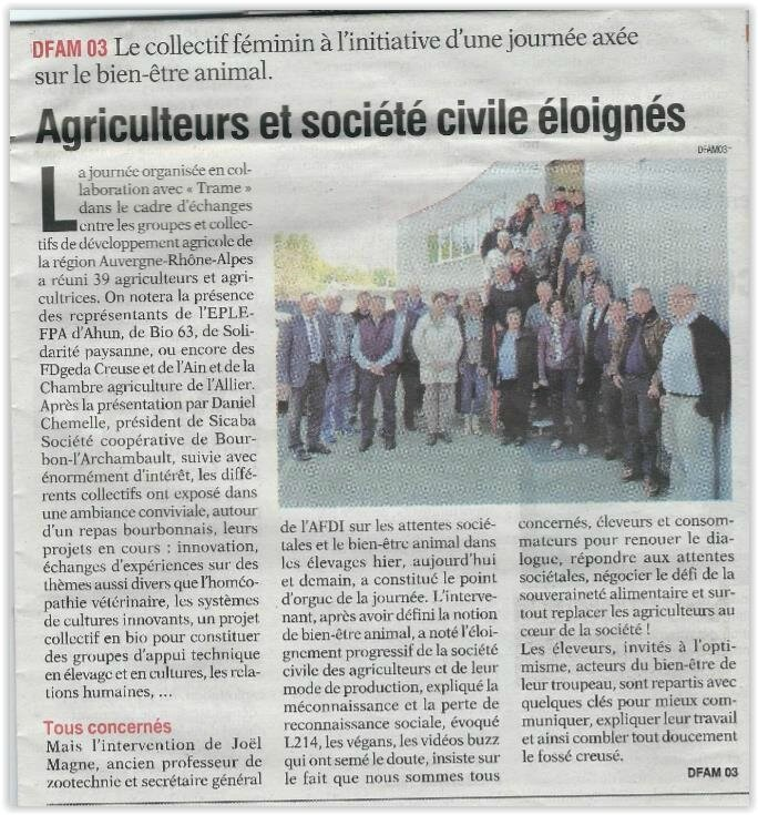 l 'ALLIER AGRICOLE SICABA 27 04 2017