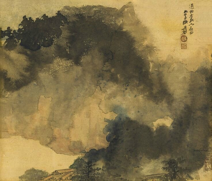 Zhang Daqian (Chang Dai-chien, 1899-1983), Mountain retreat in solitude, 1965