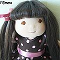 Laura, poupée waldorf aux cheveux naturels
