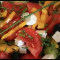 Salade grecque, parce que le soleil est là ...