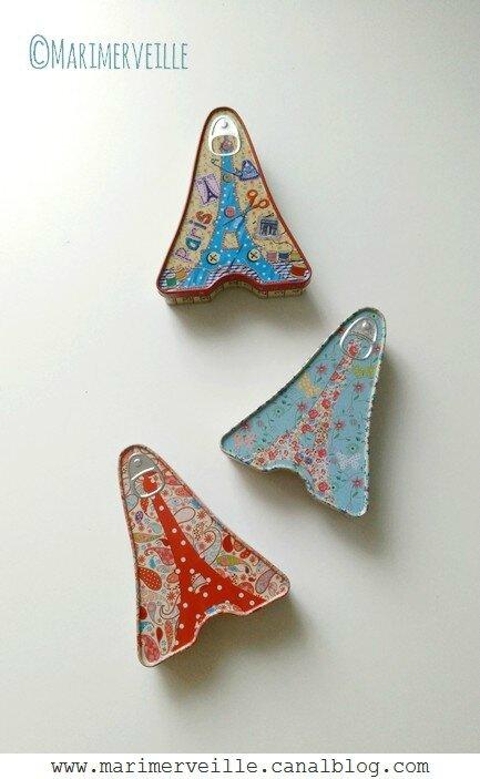 petites boîtes tour eiffel en métal - marimerveille blog